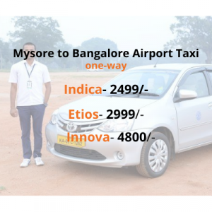 Mysore to Bangalore Airport Taxi