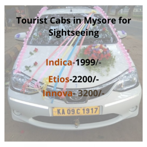 Tourist Cabs in Mysore for Sightseeing
